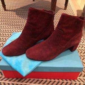 Jean Michel Cazabat Burgundy Suede Boots